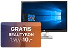 HP monitoren in prijs verlaagd + GRATIS beautybon t.w.v. 10
