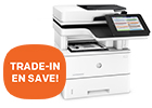 Trade-in and save op verschillende HP printer series.