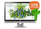 GRATIS cactus USB auto oplader t.w.v. 9,95 bij HP monitoren