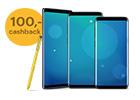 Actie: Bij aankoop van een Samsung S9, S9+ of Note9 ontvang je €100 retour.