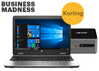 Business Madness: hoge korting op laptops en desktops