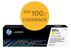 Tot 100,- cashback op HP toners