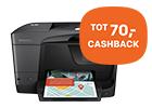 Waanzinnige HP cashback tot 70,- op HP Officejet Pro printers