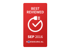 Kieskeurig.nl Best Reviewed september 2016