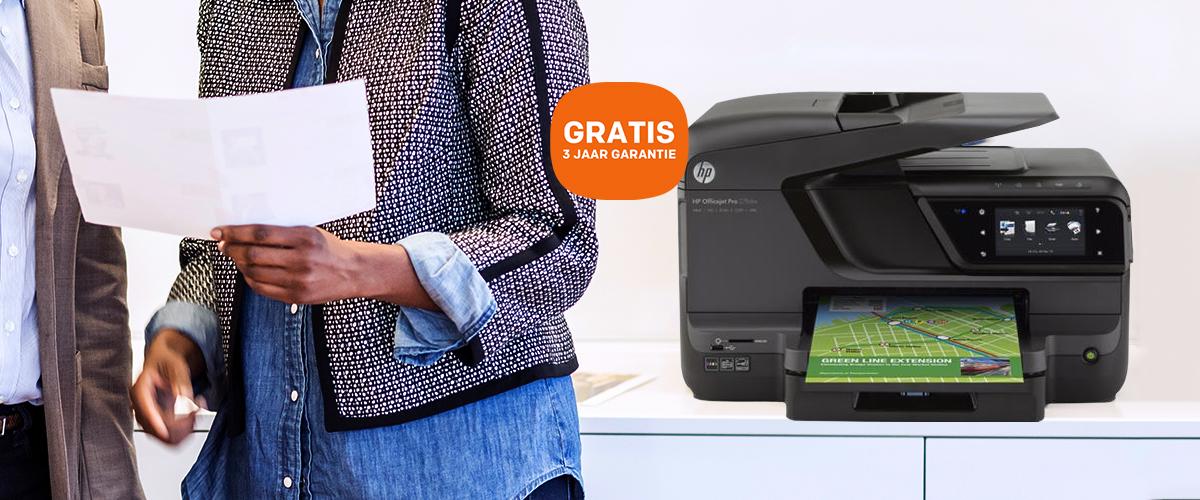 GRATIS 3 jaar garantie-uitbreiding bij een HP OfficeJet Pro printer
