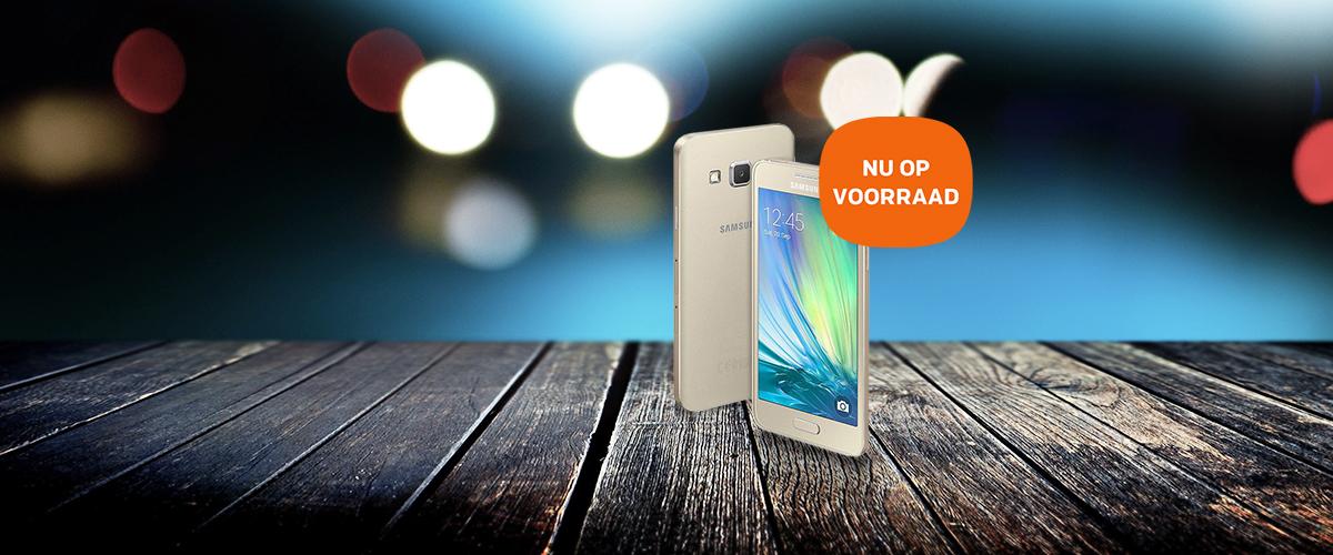 De Samsung Galaxy A3 Gold is nu op voorraad