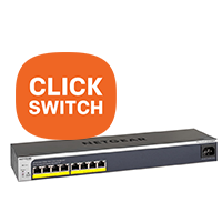 NETGEAR Click en Easy Mountswitches