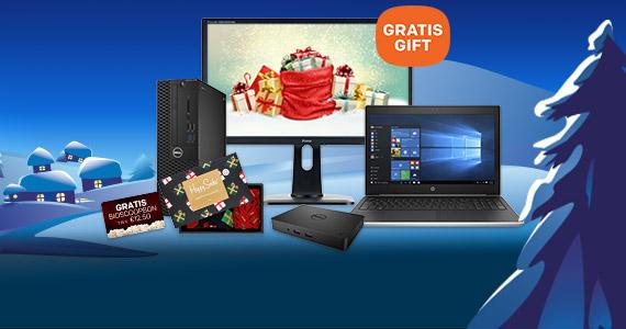 Ontvang leuke kerstgiftst bij laptops, pc's, monitoren en meer