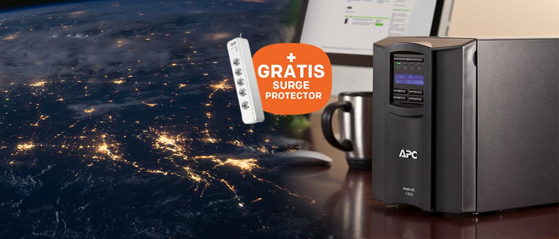 APC overspannings-beveiliging cadeau bij Smart- UPS