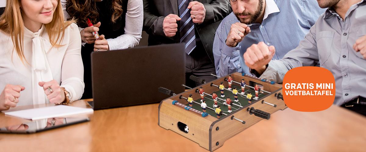 Upgrade uw netwerk en speel tafelvoetbal op kantoor