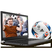 Scoor EK-voetbal met Toshiba
