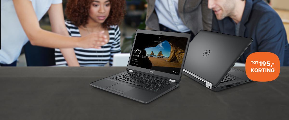 Tot 195,- korting op Dell notebooks en pc's