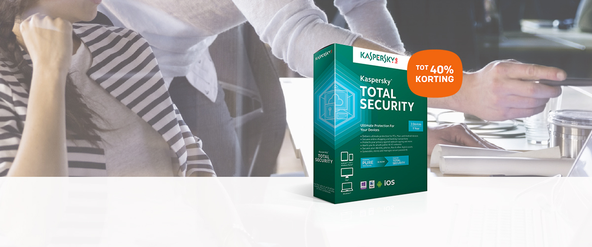 Tot 40% korting op Kaspersky Total Security for Business