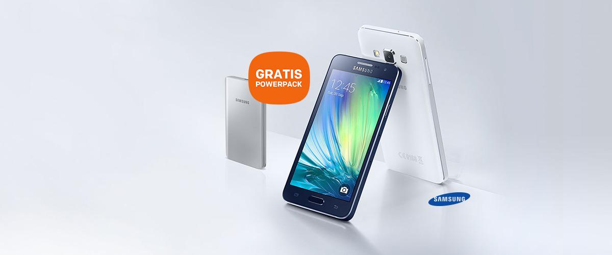 Samsung Galaxy A3 en Galaxy A5 met GRATIS Power Pack