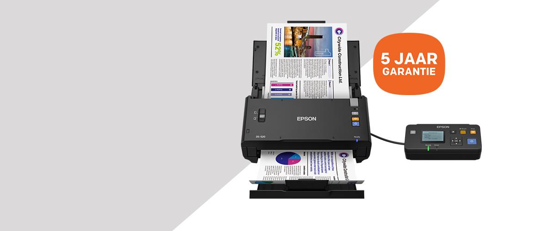 5 jaar extra garantie op Epson scanners