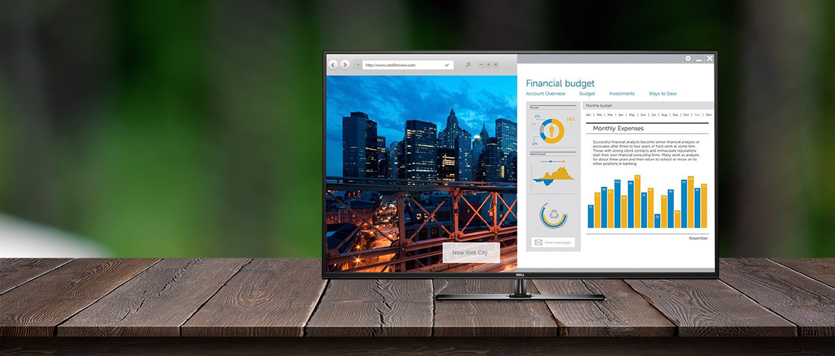 "Dell 55"" conference monitor - het ideale presentatiescherm"