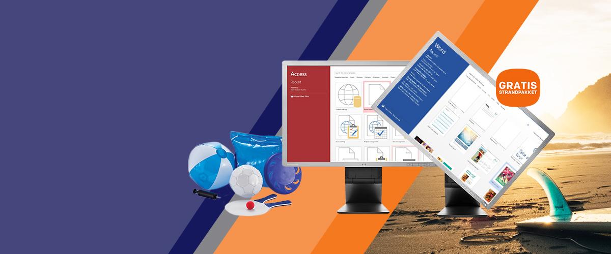 HP monitor + strandpakket cadeau