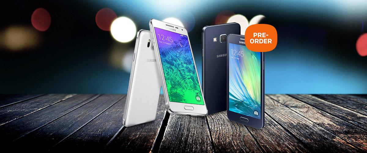 PRE-ORDER nu de Samsung Galaxy A3 en A5
