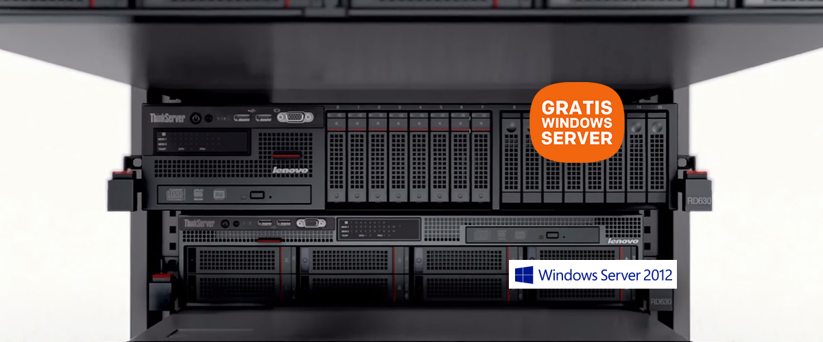 Nu GRATIS Windows Server 2012 R2 bij diverse Lenovo Servers