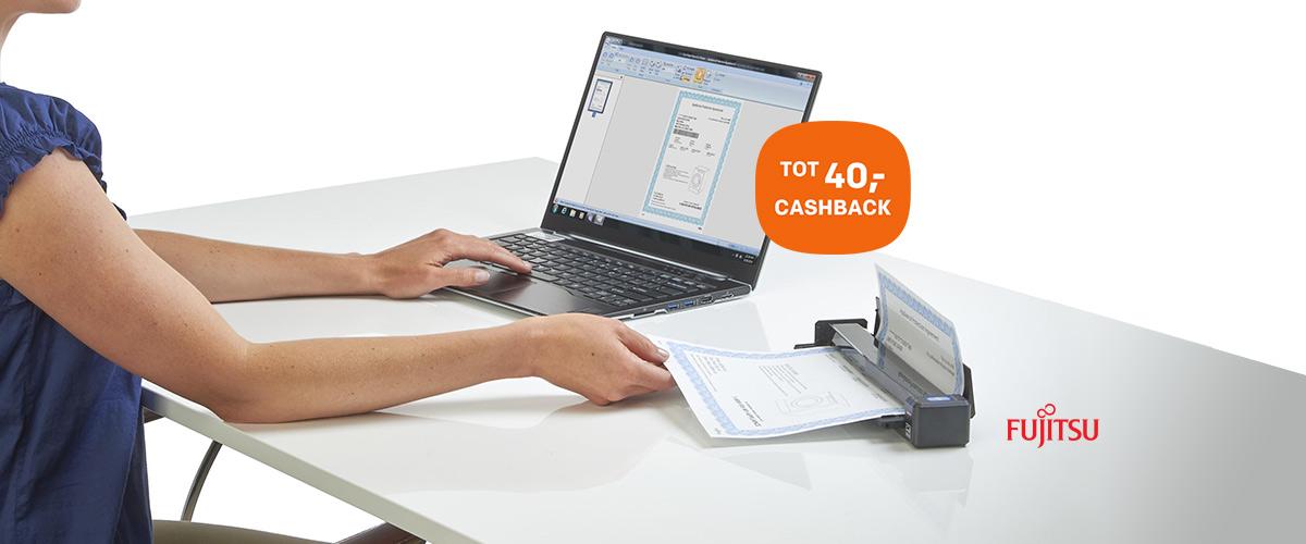 Tot wel 40,- cashback bij Fujitsu ScanSnap scanners