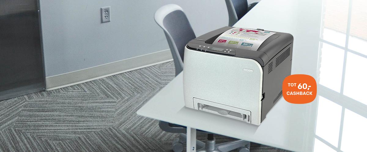 Cashback bij Ricoh printers