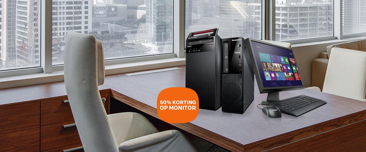 50% korting op uw Lenovo monitor bij aankoop van uw Lenovo pc