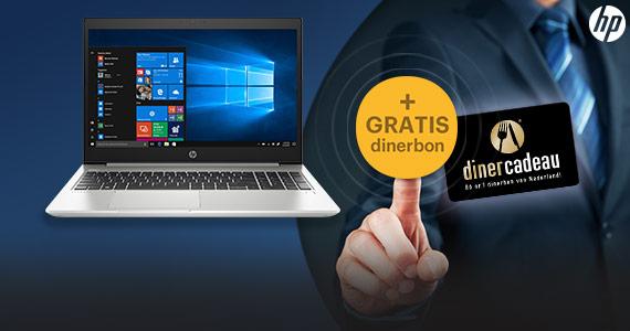 Nieuwe HP ProBook 400 G6 serie + GRATIS dinerbon t.w.v. 20,-