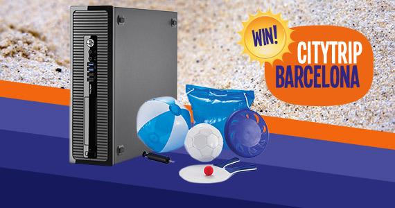 GRATIS strandpakket bij de top 10 beste HP desktops