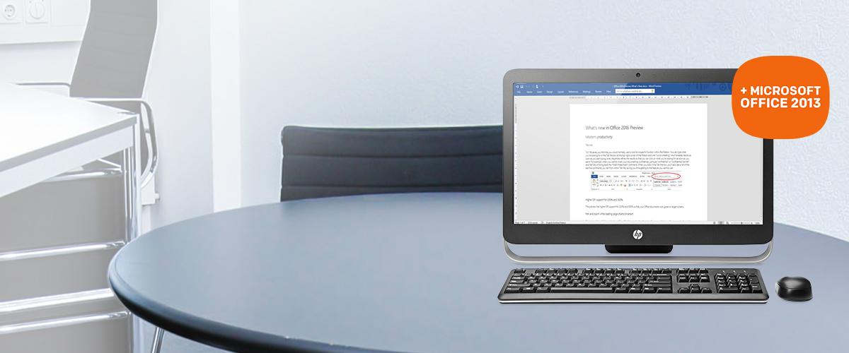 HP desktop pc + GRATIS Microsoft Office Home & Business 2013