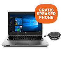 Nu GRATIS HP speakerphone bij
