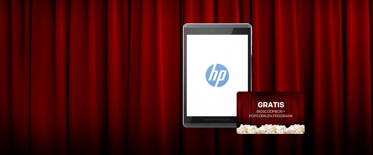 HP tablet bundel + GRATIS bioscoopkaarten incl. frisdrank en popcorn
