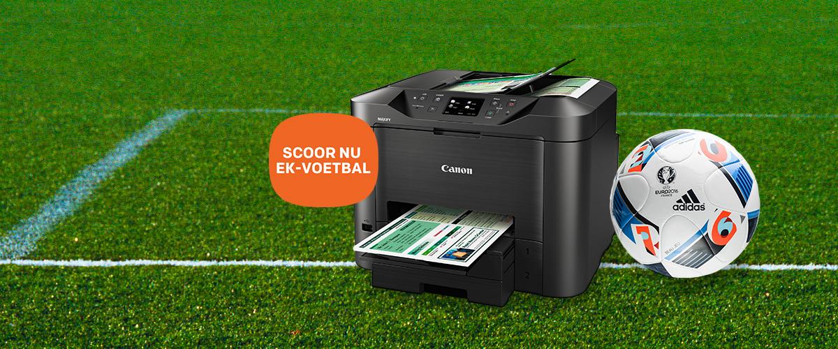 Scoor met Canon een EK-voetbal