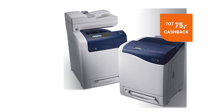 Tot 75,- cashback op Xerox printers