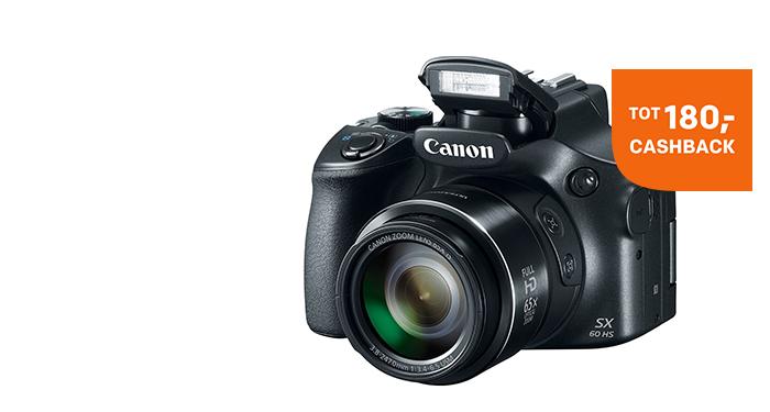 Tot 180,- cashback op Canon producten
