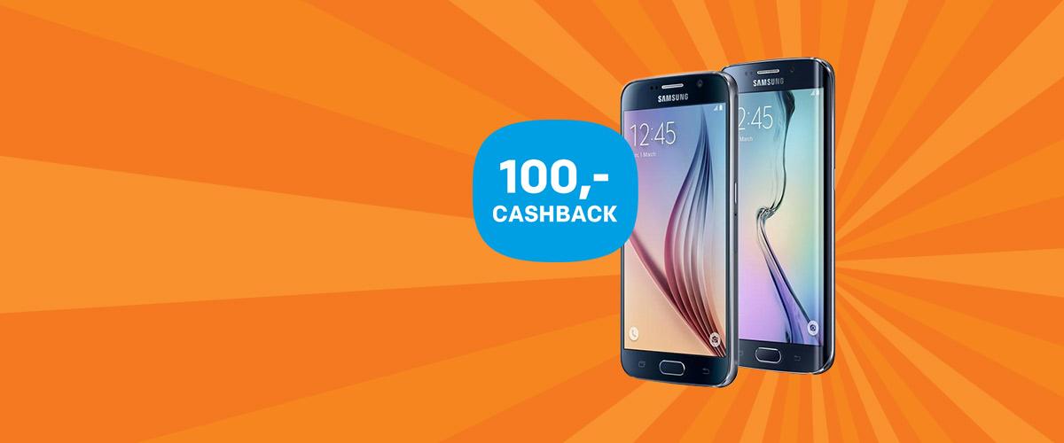 100,- cashback op uw Samsung Galaxy S6 en S6 Edge