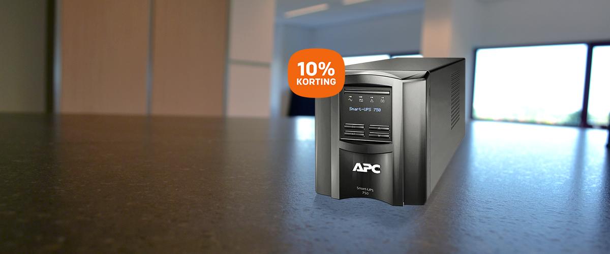 10% korting op SMART UPS'en van APC