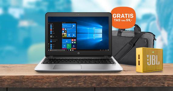 HP ProBook 400 G4 met GRATIS tas en JBL speaker