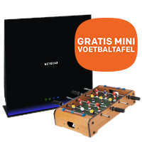 GRATIS mini voetbaltafel bij NETGEAR routers & switches