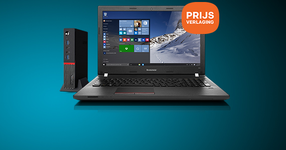 Prijsverlaging op Lenovo pc en laptop