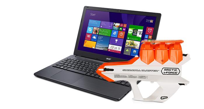GRATIS Sneeuwbalkanon bij Acer laptops