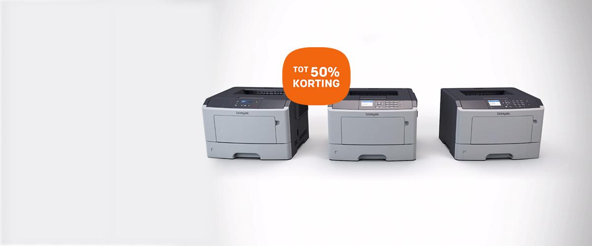Tot 50% korting op Lexmark multifunctionals en printers