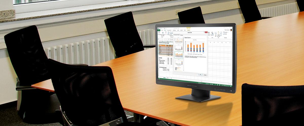 Verbeter uw werkplek met de HP ProDisplay en de Full-HD EliteDisplay monitoren