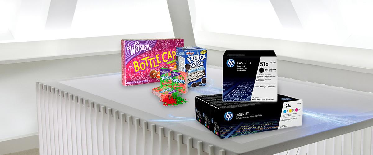 Gratis American Candy pakket bij HP Multipacks