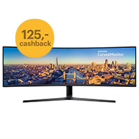Cashback op de Samsung Curved ultra-wide 49 inch monitor