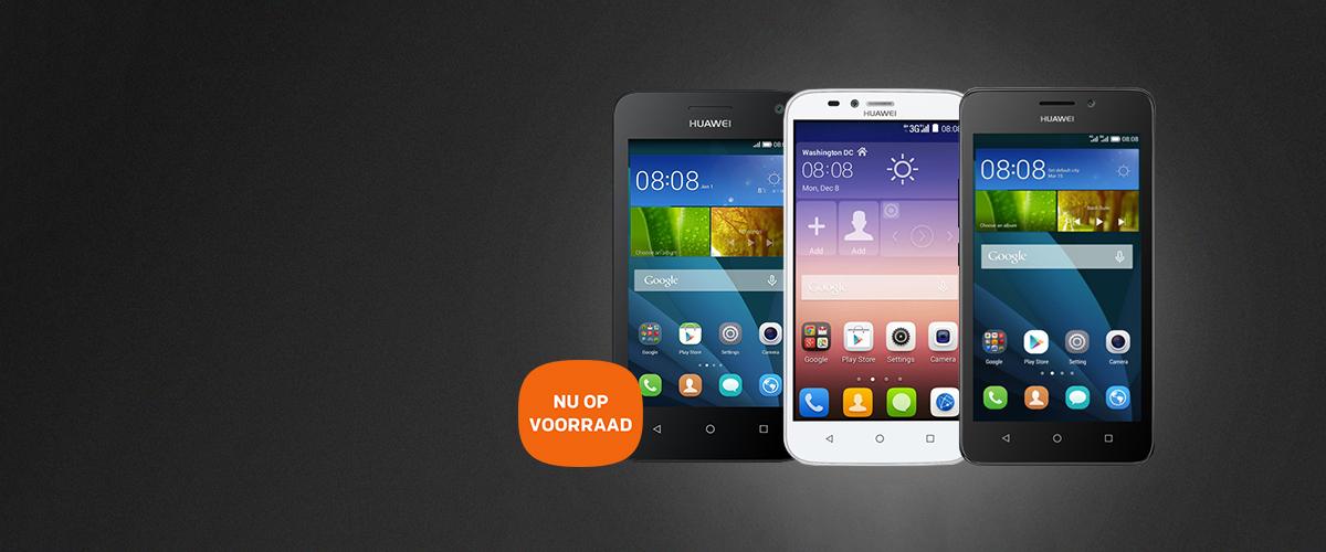 Nieuwe Huawei smartphones op voorraad