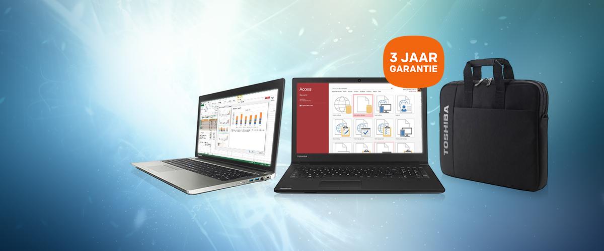 GRATIS 3 jaar Garantie & Laptoptas bij Toshiba laptops