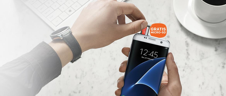 Samsung Galaxy S7 en S7 edge met GRATIS 128GB micro SD-kaart