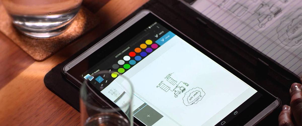 Aantekeningen op papier - direct zichtbaar op uw HP tablet