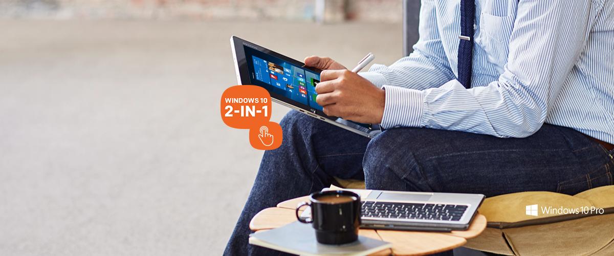 Eén apparaat is alles wat u nodig heeft - 2-in-1 touchscreen notebooks met Windows 10