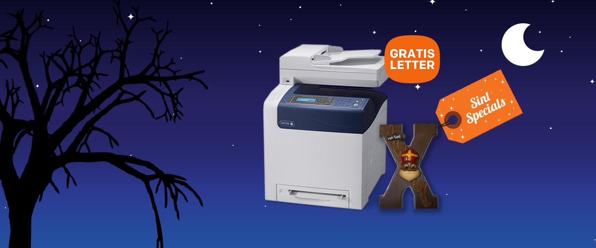 GRATIS Chocolade letter bij een Xerox printer